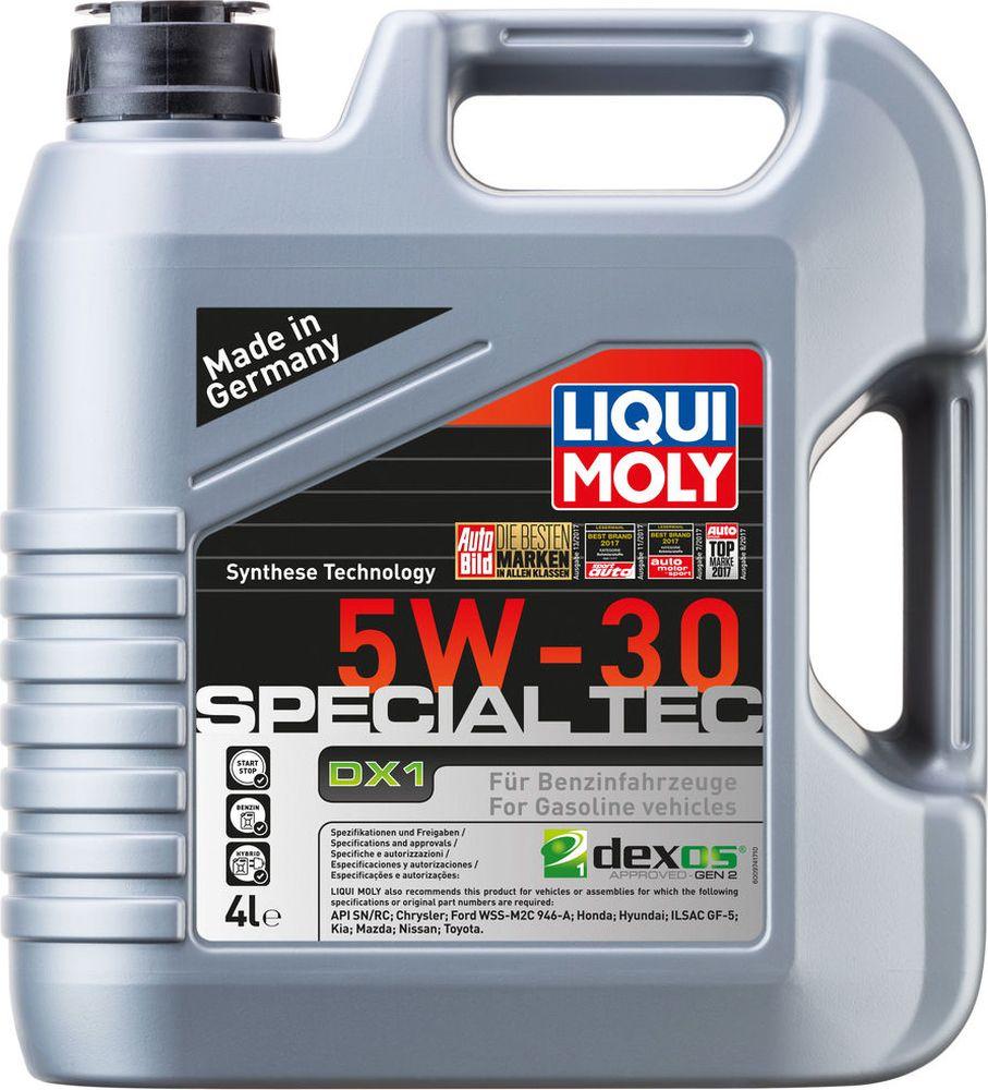 Моторное масло Liqui Moly Special Tec DX1, нс-синтетическое, класс вязкости 5W-31, 4 л моторное масло liqui moly special tec aa 5w 30 1 л 7515