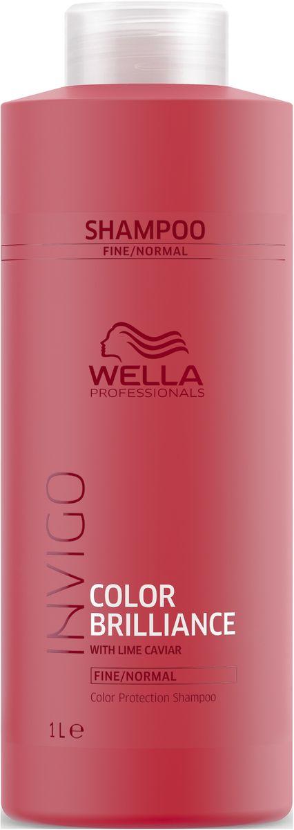 Wella Invigo Color Brilliance Шампунь для защиты цвета окрашенных нормальных и тонких волос, 1 л шампунь для окрашенных волос wella sp color save shampoo 1000 мл