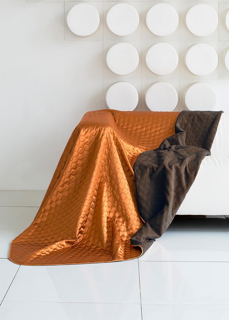 """Покрывало """"Sleep IX"""", цвет: коричневый, оранжевый, 180 х 220 см. maa214810"""