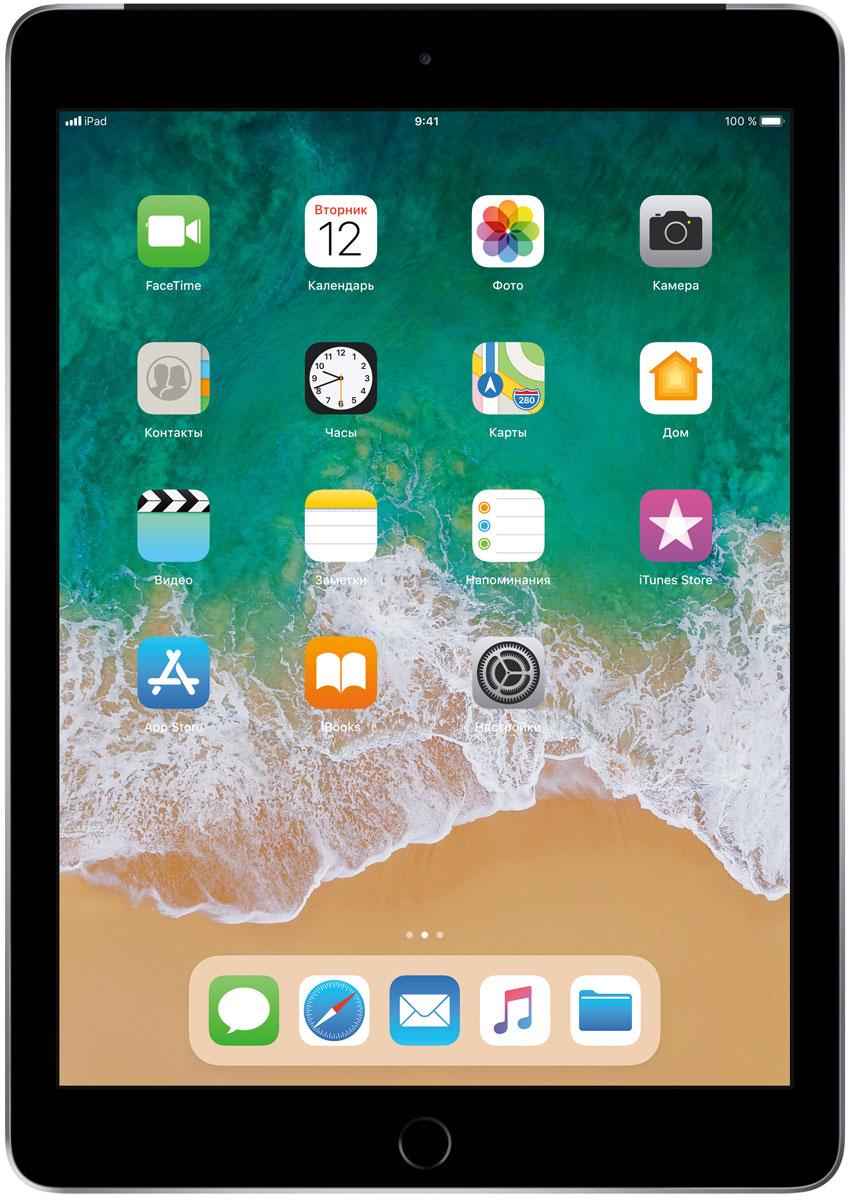 "Планшет Apple iPad 9.7"" Wi-Fi + Cellular (2018), 128 ГБ, серый"