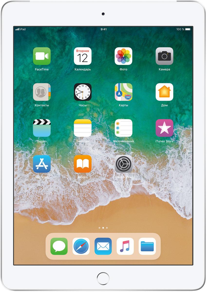"Планшет Apple iPad 9.7"" Wi-Fi + Cellular (2018), 128 ГБ, серебристый"