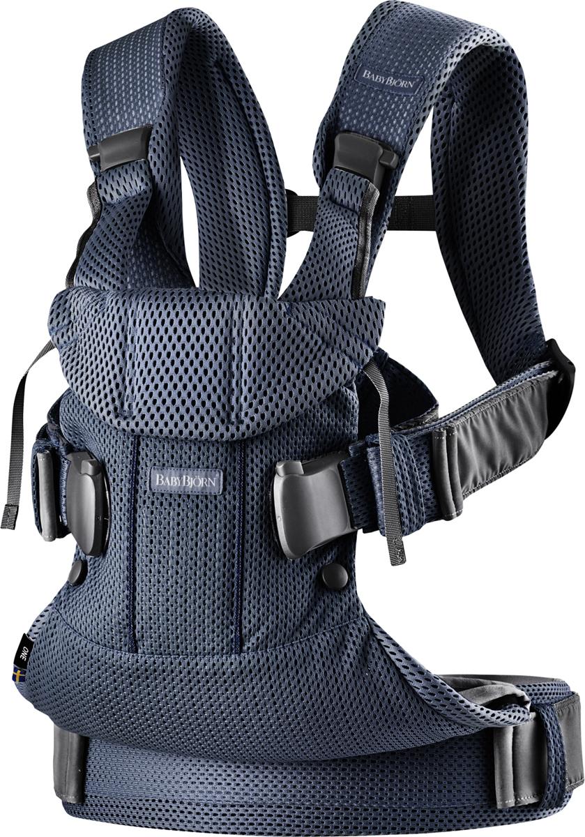 BabyBjorn Рюкзак для переноски ребенка One Mesh цвет темно-синий babybjorn рюкзак для переноски ребенка one soft cotton mix цвет серый белый
