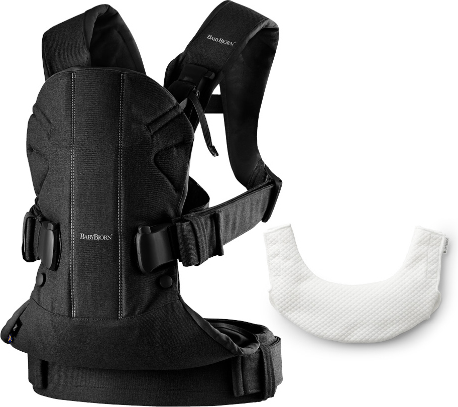 BabyBjorn Рюкзак для переноски ребенка One Soft Cotton Mix с нагрудником babybjorn рюкзак для переноски ребенка one soft cotton mix цвет серый белый