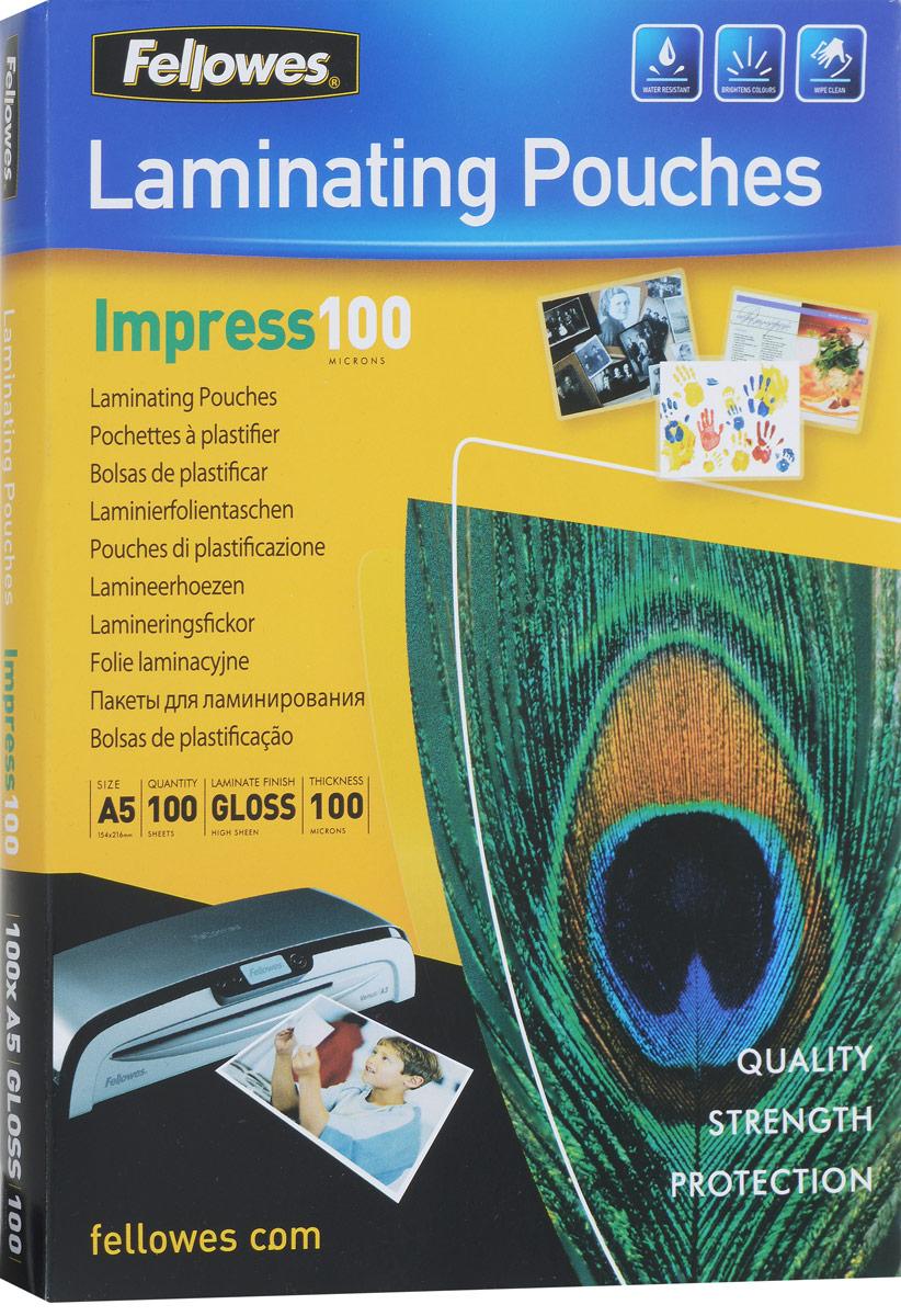 Fellowes A5 FS-53510 пленка для ламинирования, 100 мкм (100 шт) цена и фото