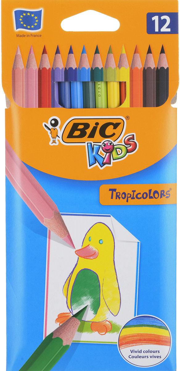 Bic Набор цветных карандашей Tropicolors 12 цветов карандаши bic kids
