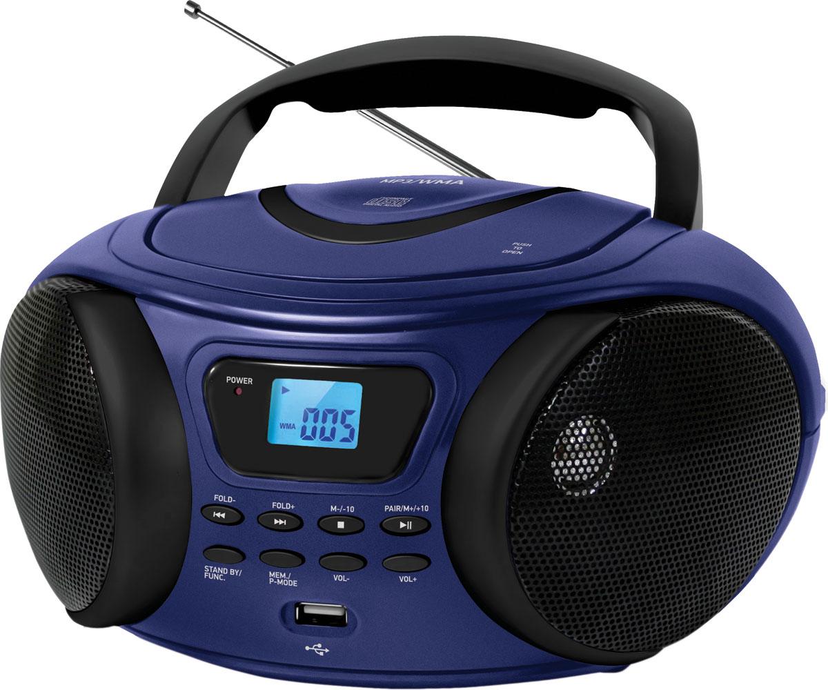 Магнитола BBK BX170BT, Dark Blue CD/MP3 магнитола bbk bx170bt синий