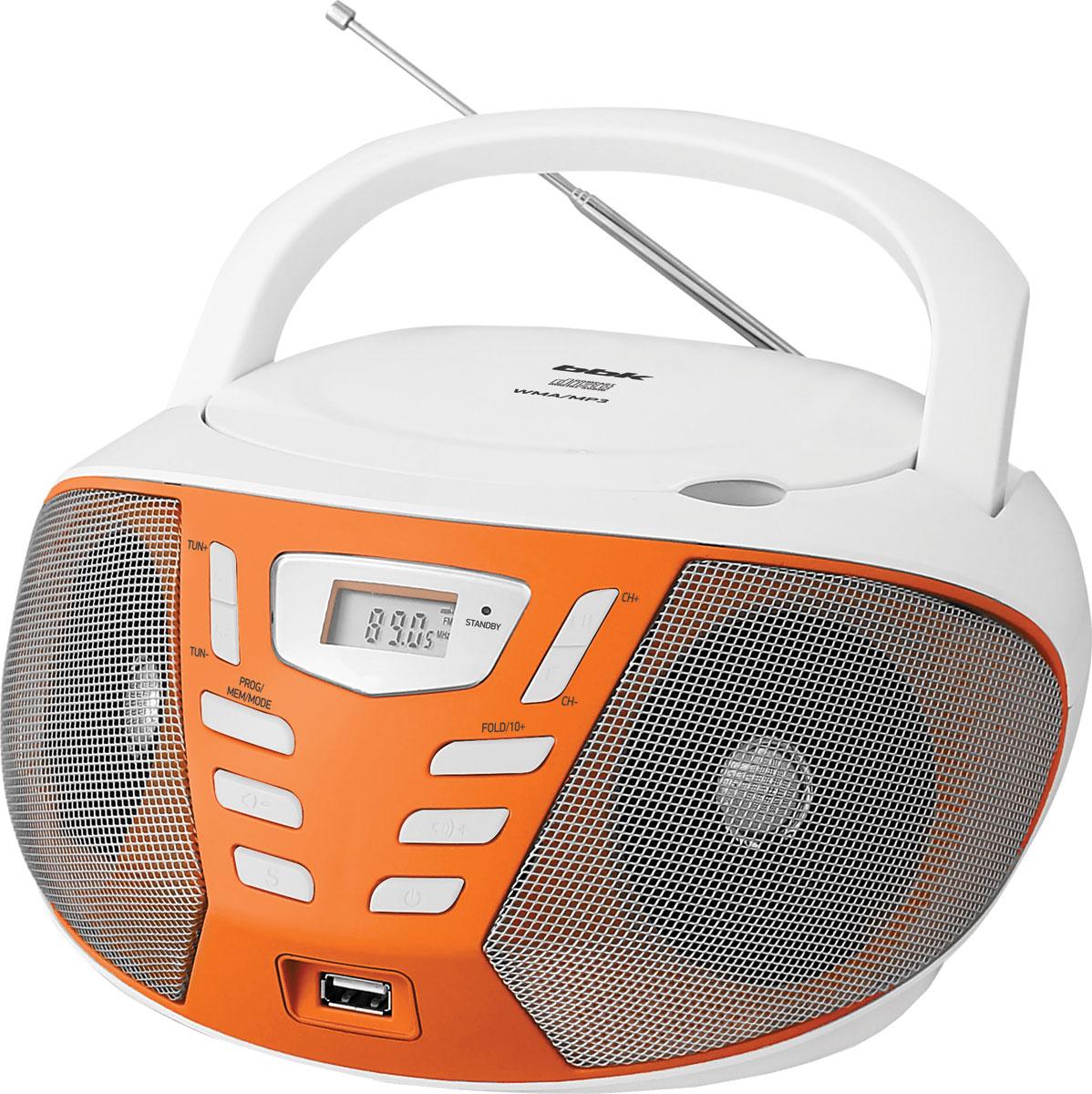 Магнитола BBK BX193U, White Orange CD/MP3 BBK
