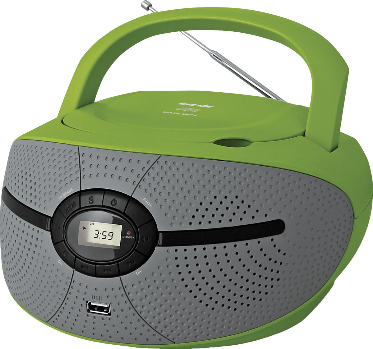 Магнитола BBK BX195U, Green Grey CD/MP3 магнитола bbk bx325u green grey