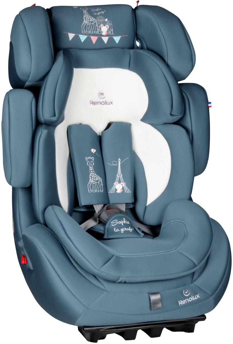 купить Автокресло Renolux Step 1-2-3 от 9 до 36 кг, 295665, бирюзовый, белый по цене 15490 рублей