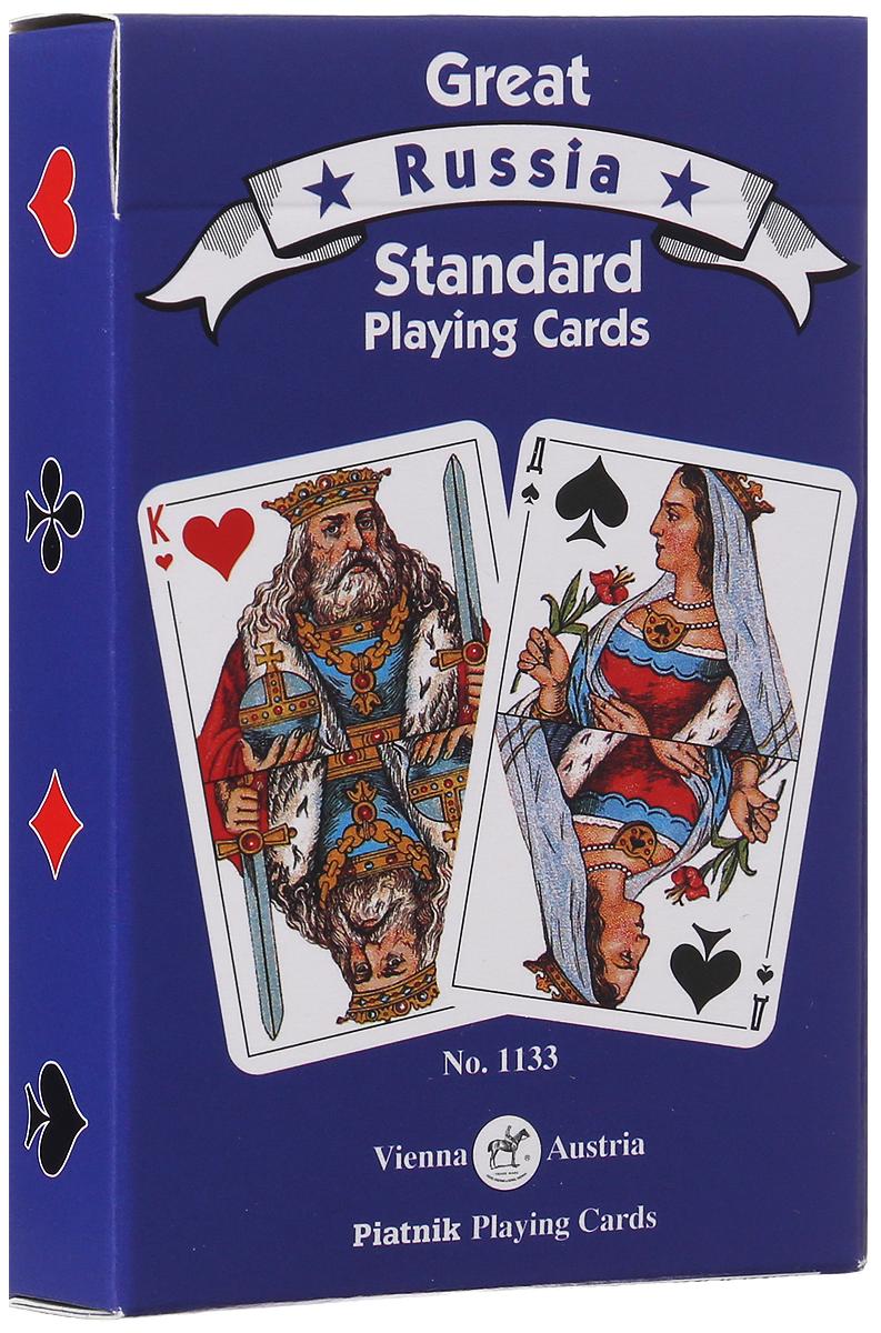 Игральные карты Piatnik Русский стандарт, 1133_синий карты игральные профессиональные piatnik rosette 56 карт