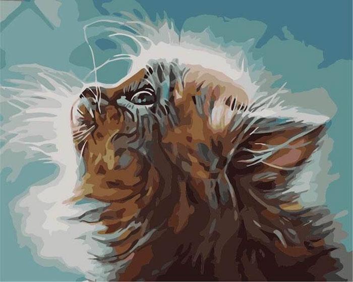Набор для рисования по номерам Цветной Котенок в мечтах, 40 х 50 см набор для рисования по номерам цветной милый котенок 40 х 50 см