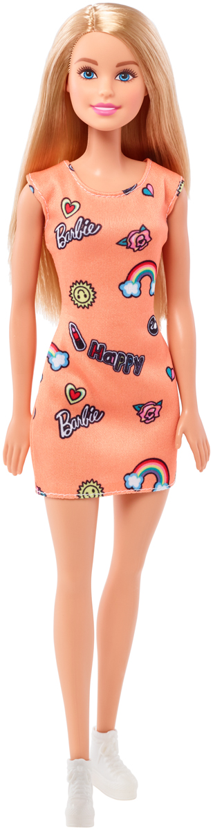 Barbie Кукла цвет платья оранжевый