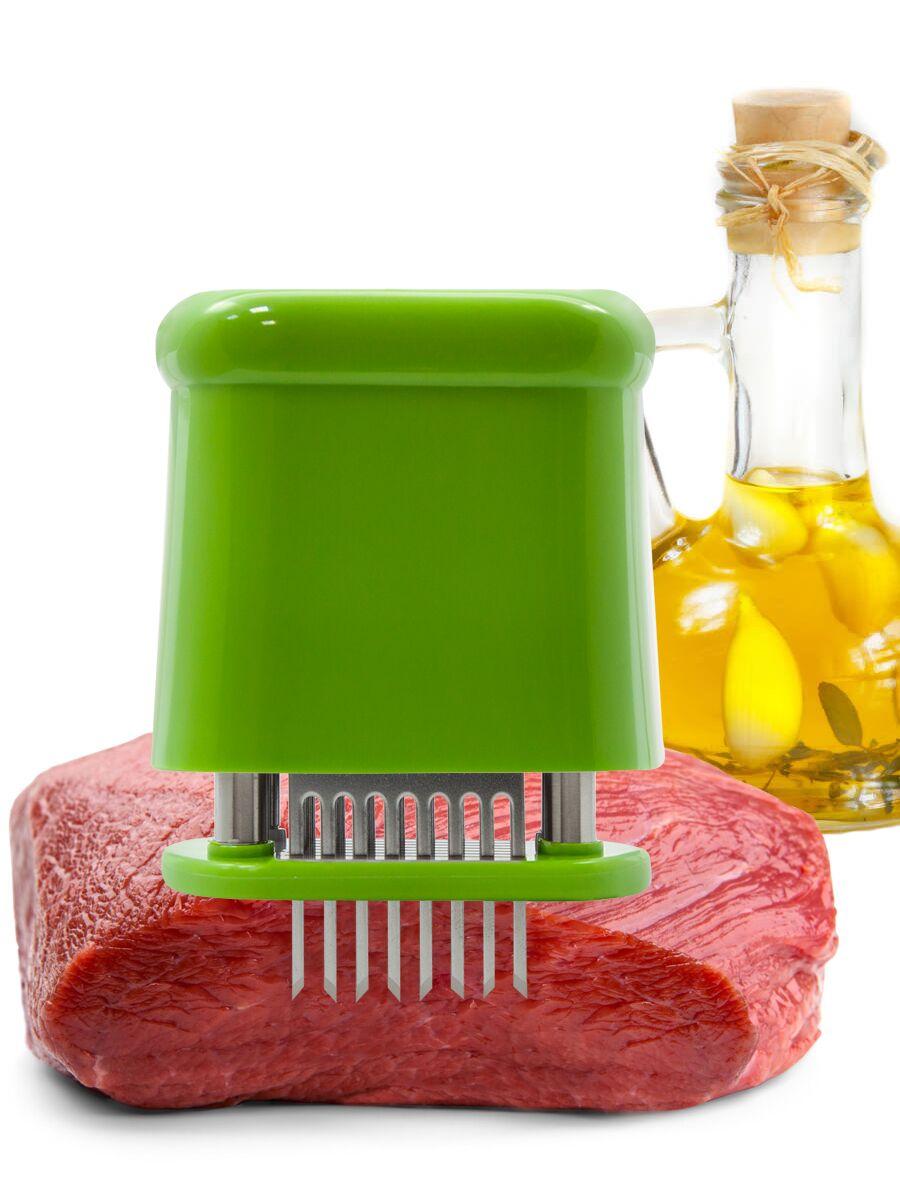 """Тендерайзер для мяса """"Borner"""", прямоугольный, цвет: салатовый"""