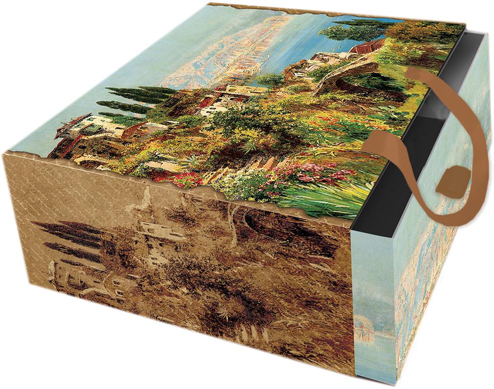 Коробка подарочная Magic Home Итальянский городок. 7685676856Подарочная коробка Итальянский городок из мелованного, ламинированного, негофрированного картона плотностью 1100 г/м2, с полноцветным декоративным рисунком на внутренней и наружной части, с ручкой-лентой из тесьмы (полиэстер). Окружите близких людей вниманием и заботой, вручив презент в нарядном, праздничном оформлении! Рекомендуем!