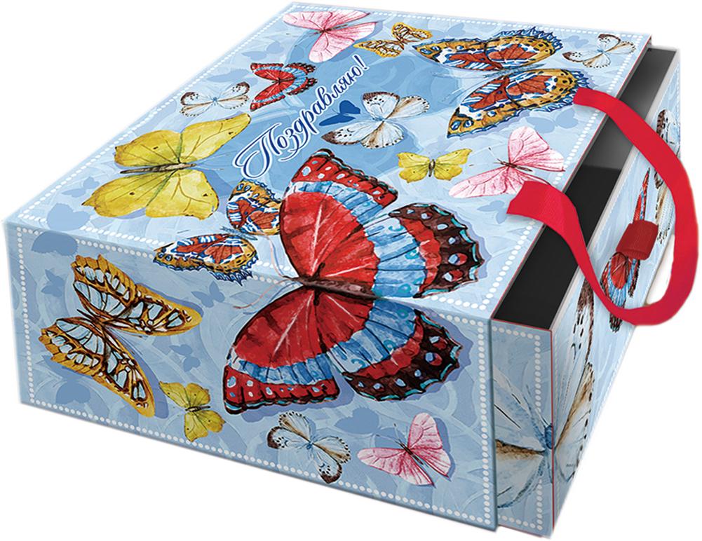Коробка подарочная Magic Home Тропические бабочки. 76869 коробка подарочная magic home апрельский париж 42359