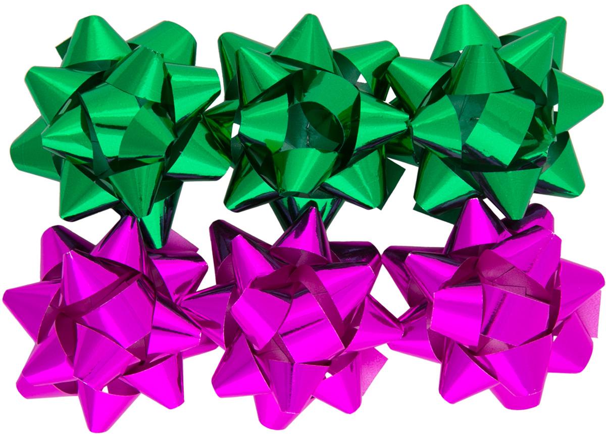 Бант декоративный Magic Home, для оформления подарков, 6 шт. 7696176961Бант – объемный и сверкающий - добавит оригинальности любому подарку. Поиграйте с формой и цветом, проявите свою фантазию! Окружите близких людей вниманием и заботой, вручив презент в нарядном, праздничном оформлении! Декоративный бант из полиэтилентерефталата на клеевом основании, размером 1,2 х 6 см, для оформления подарков.