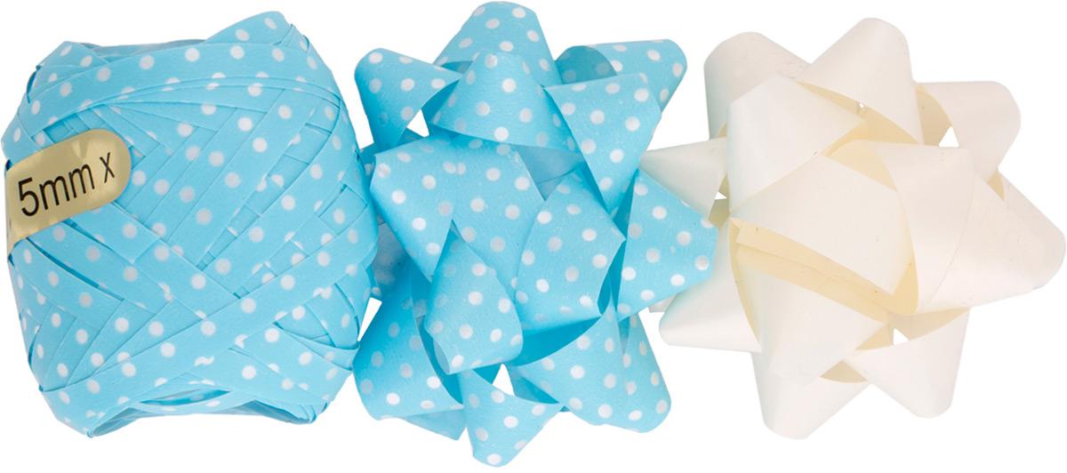 Набор для оформления подарков Magic Home. 7697176971Набор для оформления подарков: декоративный бант из полипропилена на клеевом основании, размером 1,2*6 см. (2шт.), декоративная лента из полипропилена, шириной 0,5 см., длиной 10 м (1шт.). Банты и лента добавят оригинальности любому подарку. Поиграйте с формой и цветом, проявите свою фантазию! Окружите близких людей вниманием и заботой, вручив презент в нарядном, праздничном оформлении!