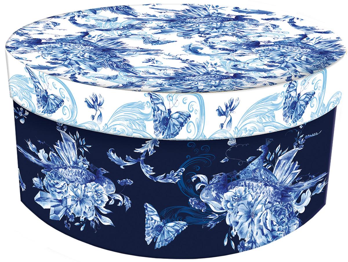 Коробка подарочная Magic Home Голубые цветы. 77310 коробка голубые цветы magic home