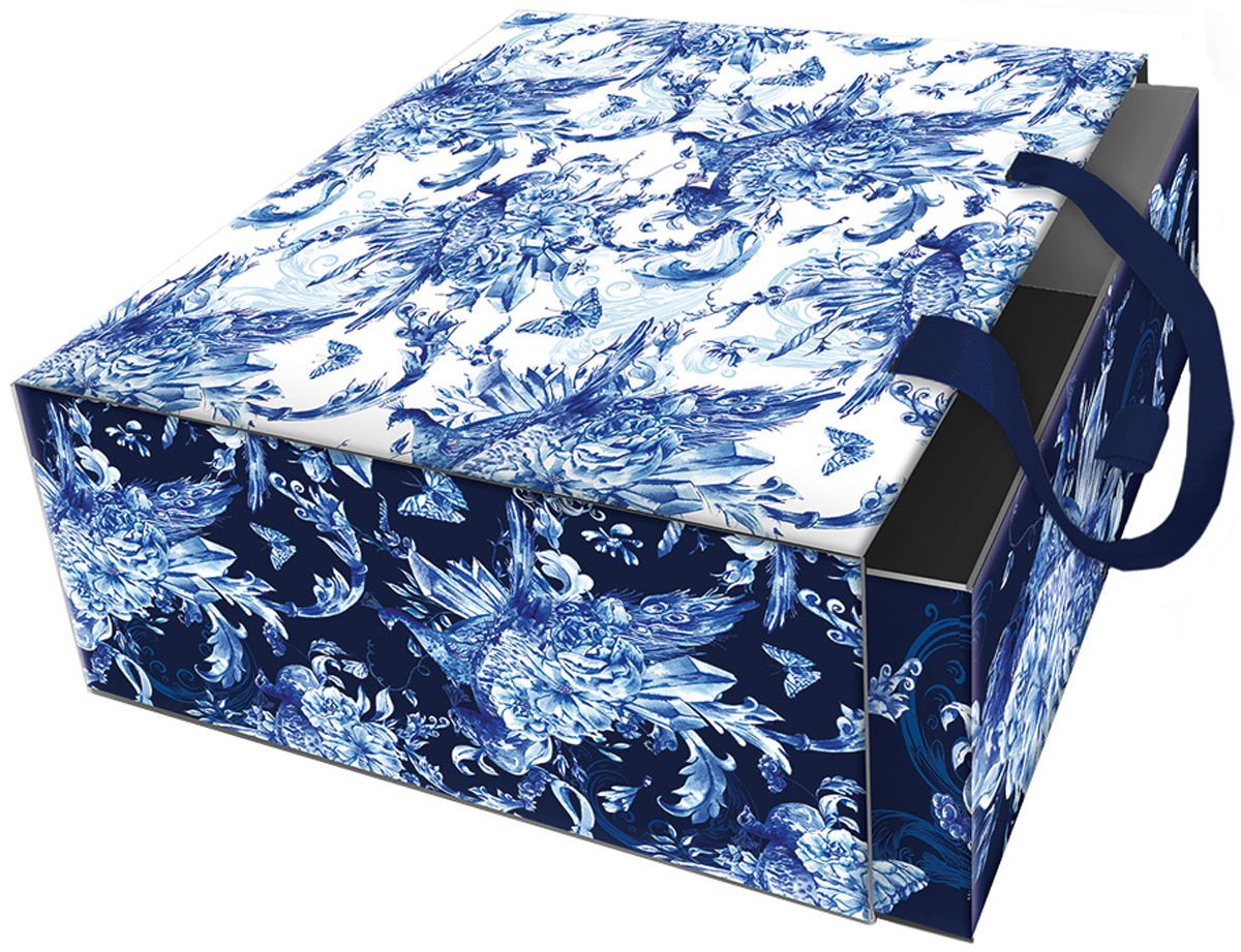 Коробка подарочная Magic Home Голубые цветы. 77311 коробка голубые цветы magic home