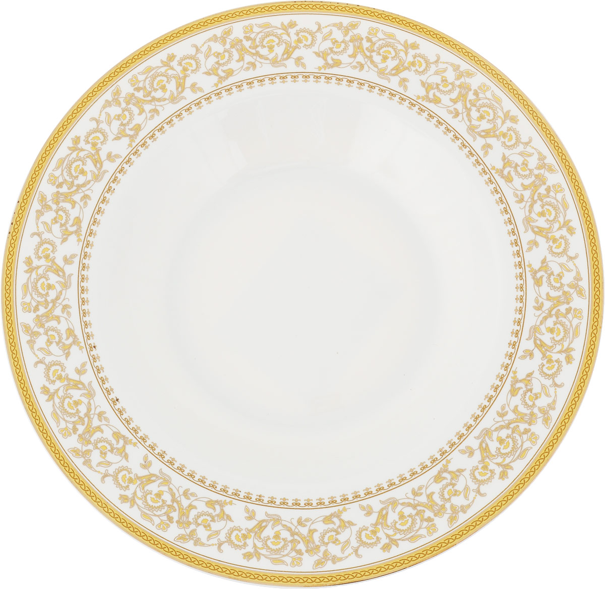Тарелка суповая МФК-профит Империя, диаметр 21,5 см сувенир мфк профит набор посуды гадкий я 3 пр кружка 210 мл миска 18 см тарелка 19 см в под уп