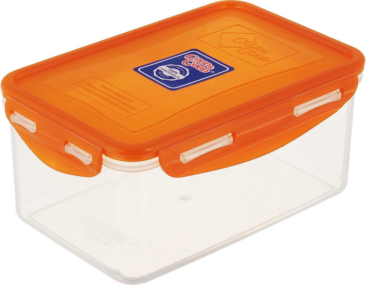 Контейнер пищевой Good&Good, цвет: в ассортименте, 1,5 л контейнер пищевой good
