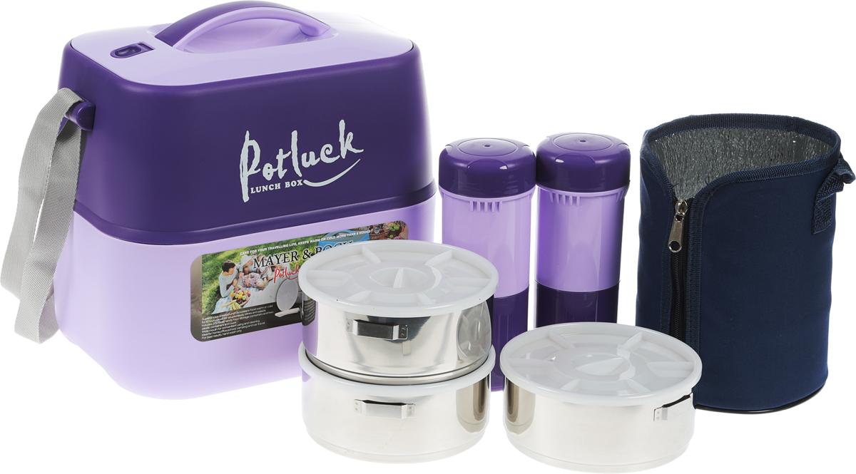 """Термо-контейнер для продуктов """"Mayer & Boch"""", цвет: фиолетовый, сиреневый, 3,6 л"""