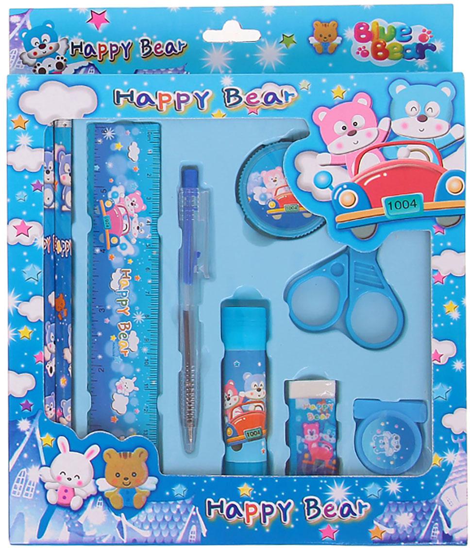 Канцелярский набор цвет голубой 9 предметов 299501
