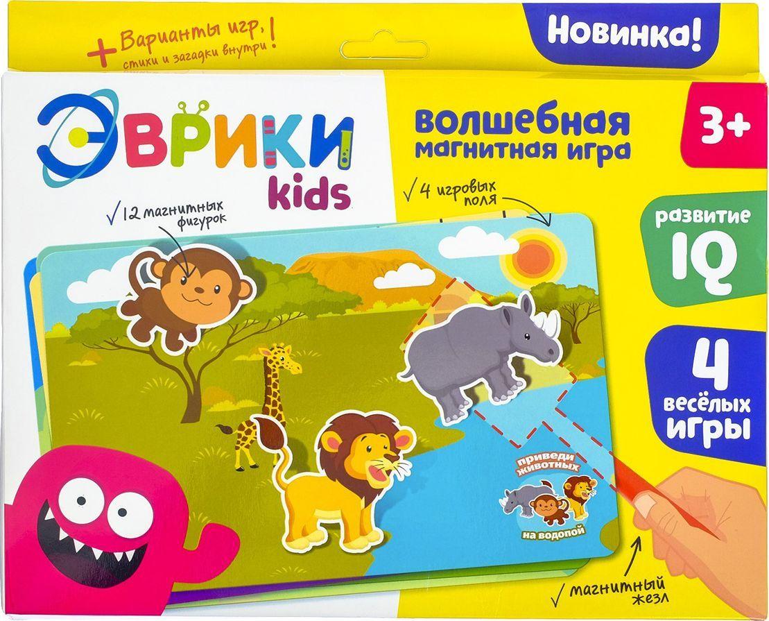 Эврики Магнитная игра Животные и игрушки настольная игра эврики аквамозаика насекомые 2933730