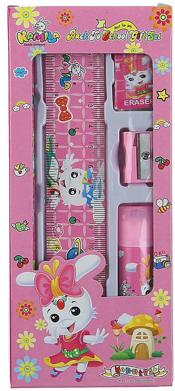 Фото - Kamila Back Jo Chool Gift Set Канцелярский набор цвет светло-розовый 5 предметов 1096914 contrast lace keyhole back blouse