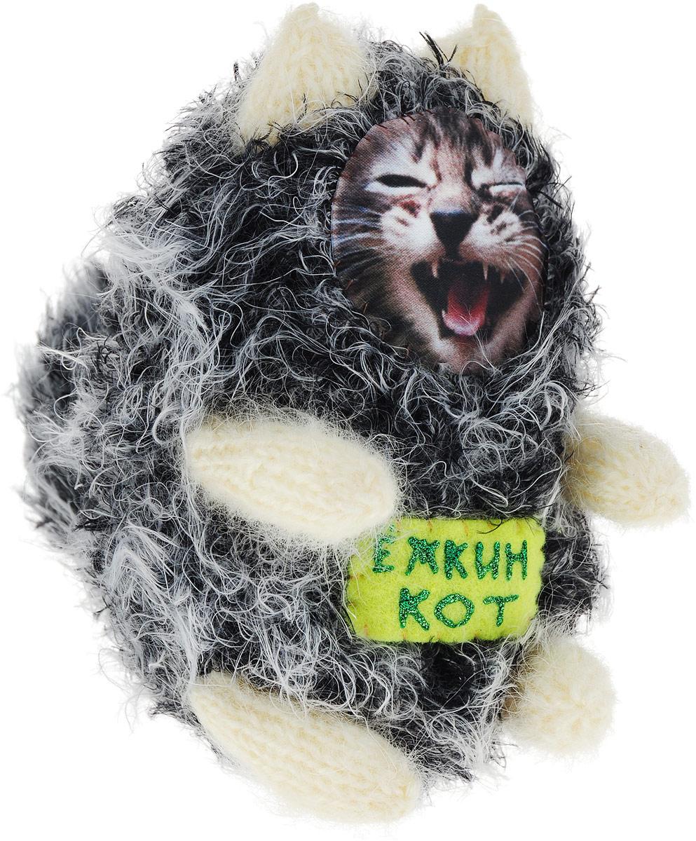 """Мягкая игрушка Бюро находок """"Котик. Ежкин кот"""", цвет: серый"""