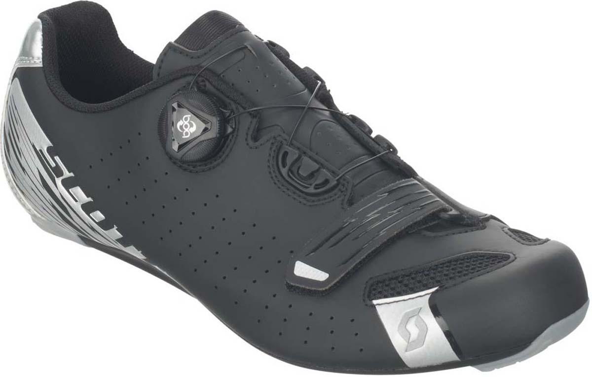 где купить Велотуфли мужские Scott Road, цвет: матовый черный, серебристый. 251817-5547. Размер 44 (43) по лучшей цене