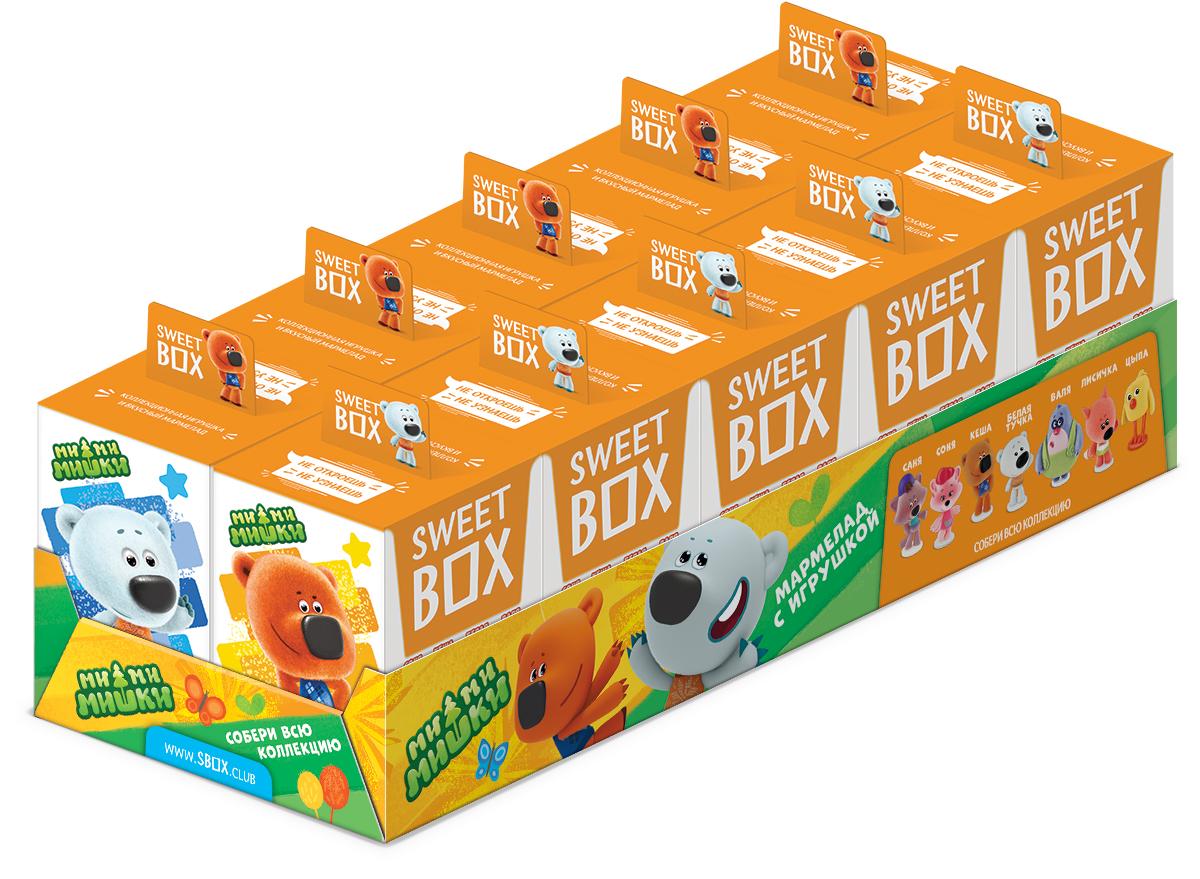 Конфитрейд Ми-Ми-Мишки мармелад с игрушкой в коробочке, 10 г десерты конфитрейд ми ми мишки в сахарной глазури с игрушкой 20 г