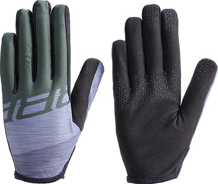 Перчатки велосипедные BBB 2018 LiteZone, цвет: серый, зеленый. Размер XL