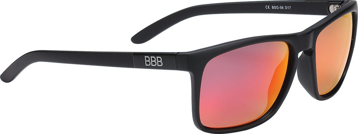 """Очки солнцезащитные велосипедные BBB """"2018 Town PZ PC MLC Red Polarised Lenses"""", цвет: черный матовый"""