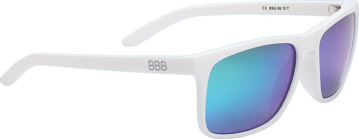 "Очки солнцезащитные велосипедные BBB ""2018 Town PZ PC MLC Green Polarised Lenses"", цвет: белый"