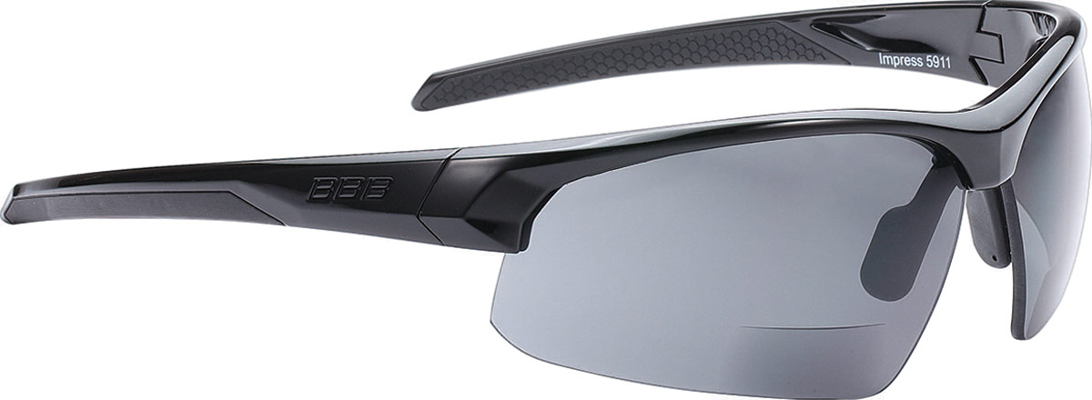 Очки солнцезащитные велосипедные BBB 2018 Impress Reader + 2.5 PC Smoke Lenses, цвет: черный juliet sports cycling aluminum alloy frame uv 400 protection polarizing sunglasses silver purple
