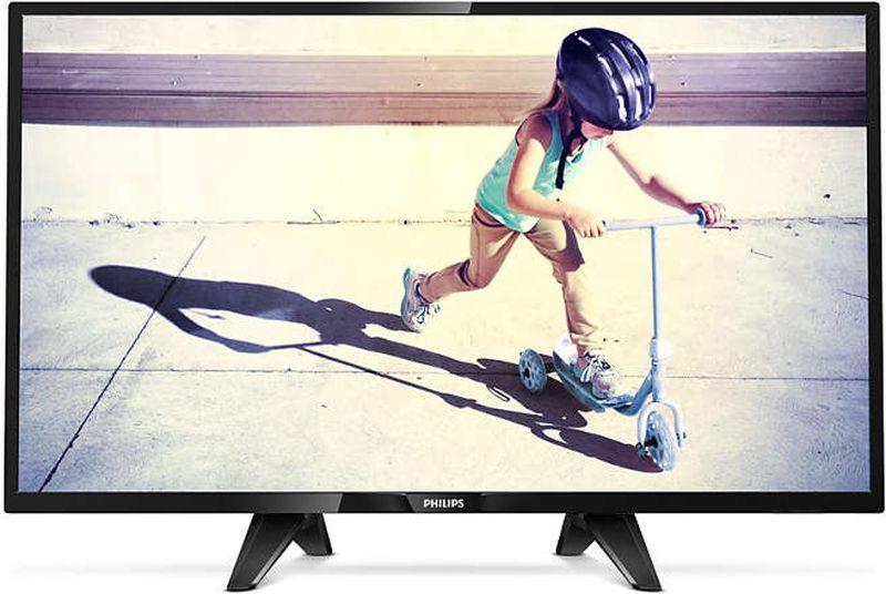Телевизор Philips 32PHS4132/60 32, черный телевизор philips 43pfs5302 12