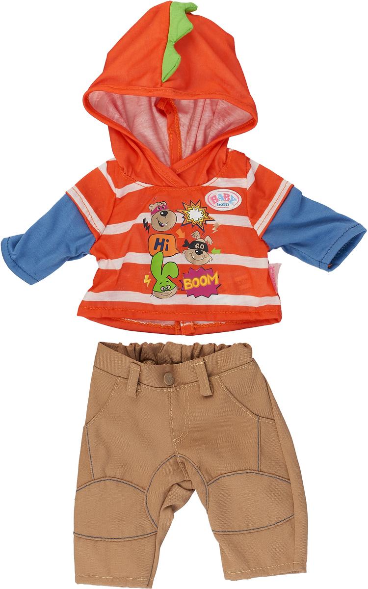 Zapf Creation Одежда для куклы BABY born цвет оранжевый бежевый 824-535 zapf creation одежда для куклы baby born 824 566 цвет розовый