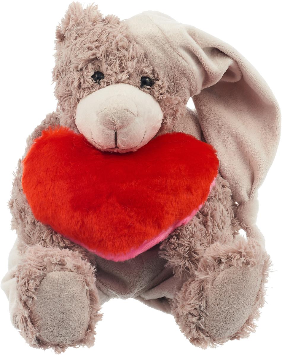 Magic Bear Toys Мягкая игрушка Мишка Патрик в шапке с сердцем 25 см цвет серый стоимость