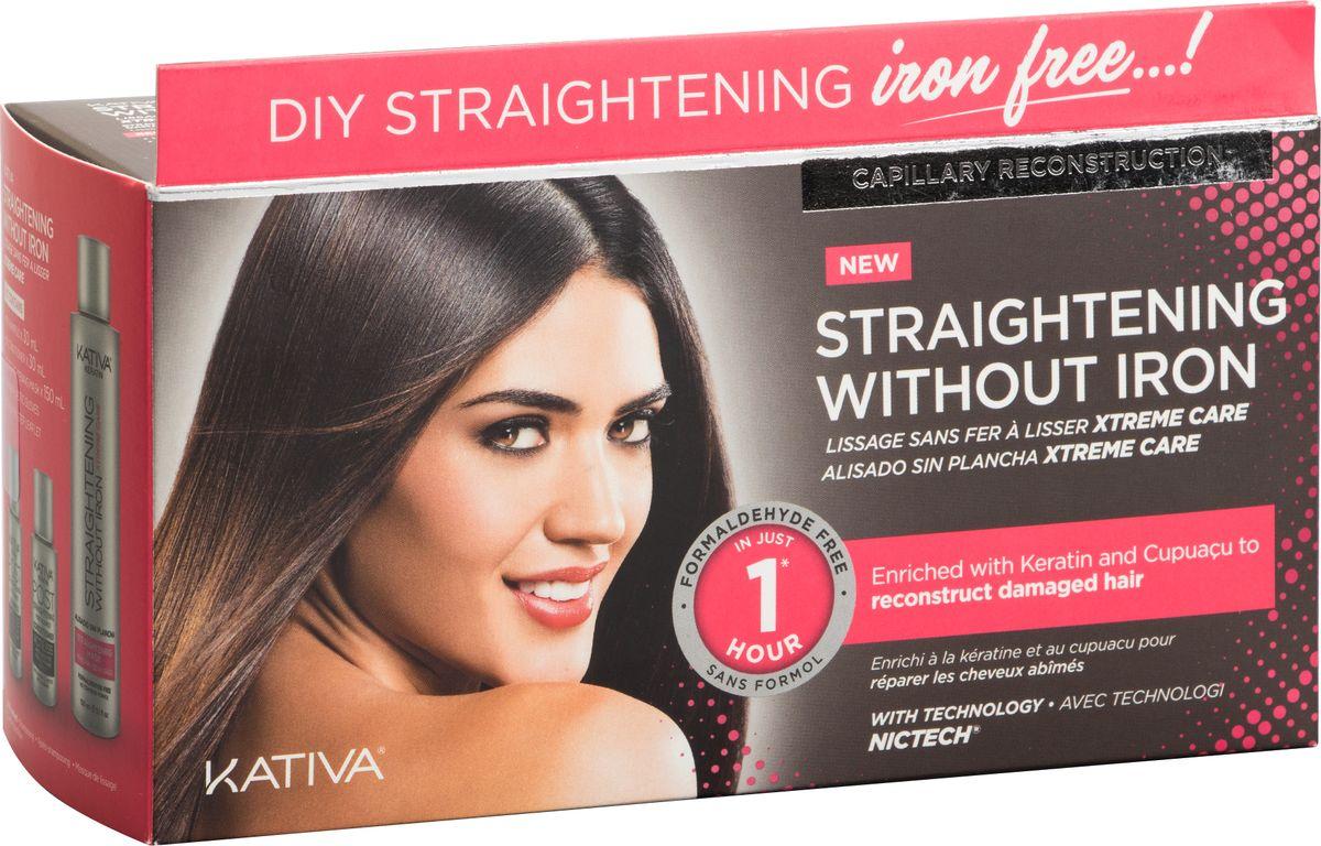 Kativa Iron Free Набор для выпрямления волос Уход, для поврежден волос, с маслом купуасу и кератином набор для выпрямления волос экстра блеск для тусклых волос с жемчугом и кератином iron free kativa