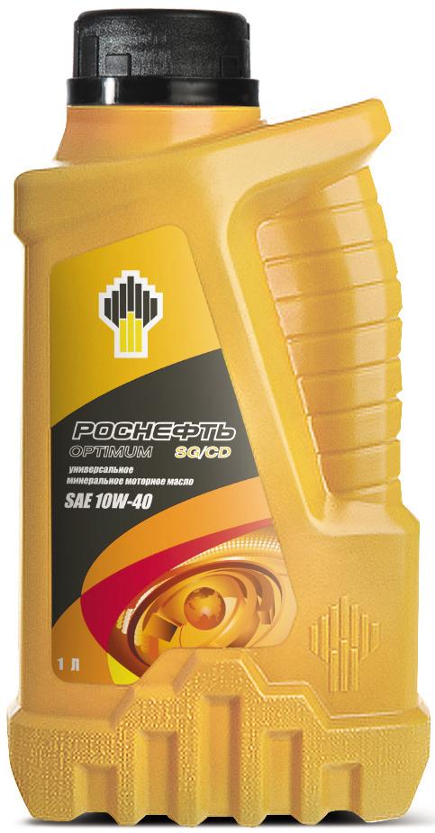 Масло моторное Роснефть Optimum, минеральное, 10W-40, 1 л масло моторное роснефть maximum класс вязкости 10w 40 4 л