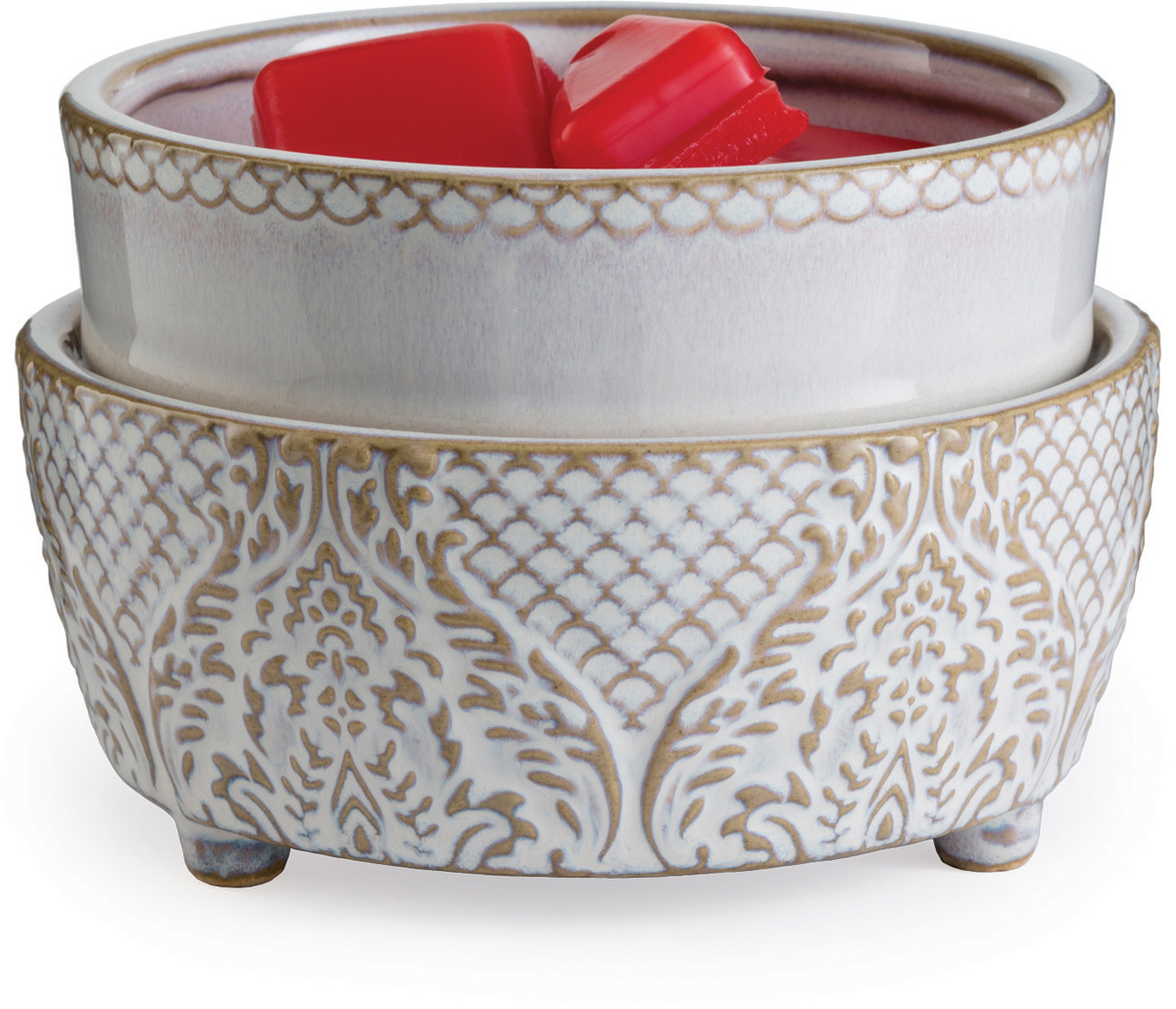 Воскоплав Candle Warmers Белый винтаж / Vintage White, цвет: бело-золотой vintage striped pattern knit leg warmers