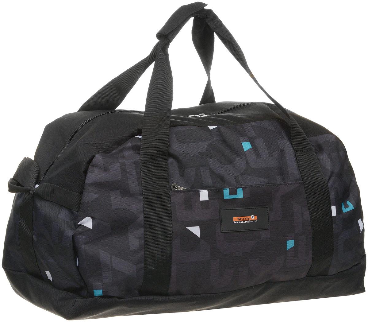 Сумка спортивная Grizzly, цвет: черный. TU-800-4/1 сумка дорожная grizzly grizzly mp002xw19eap