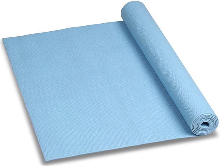 Коврик для йоги и фитнеса Indigo, цвет: голубой, 173 х 61 х 0,6 см коврик для йоги onerun 495 4807 зеленый 173 х 61 см