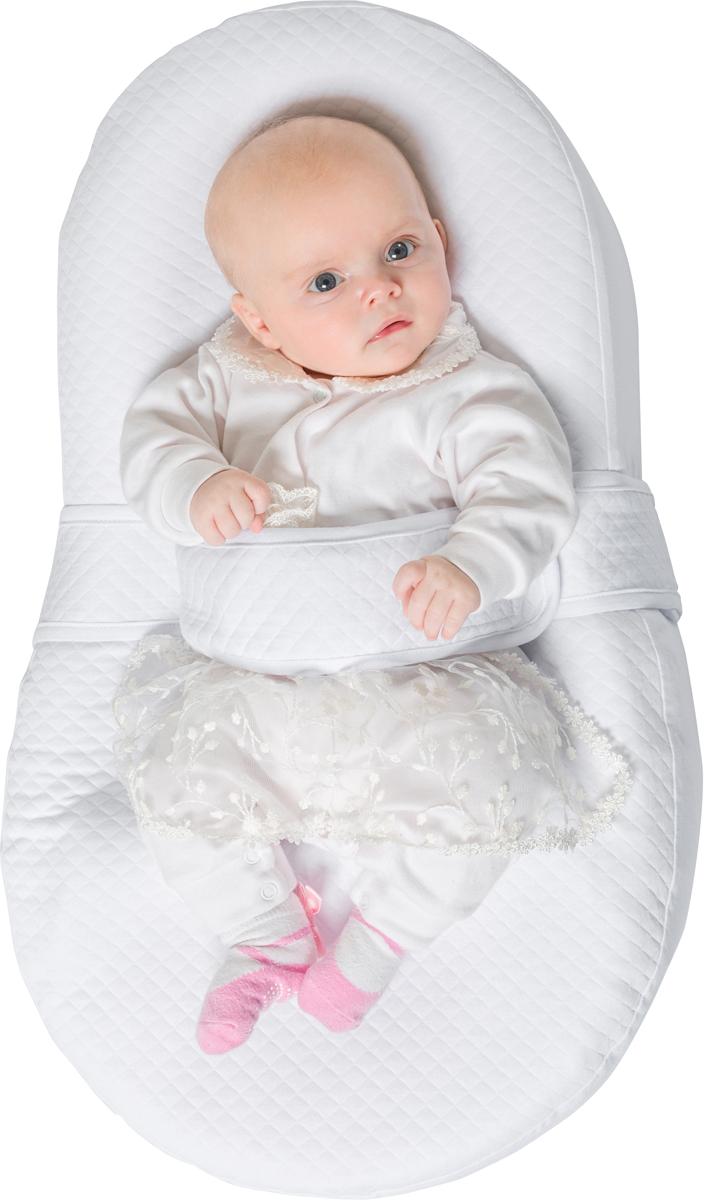 Матрас-кокон для новорожденных Dolce Cocon цвет белый 70 х 41 х 18 см + дополнительная наволочка