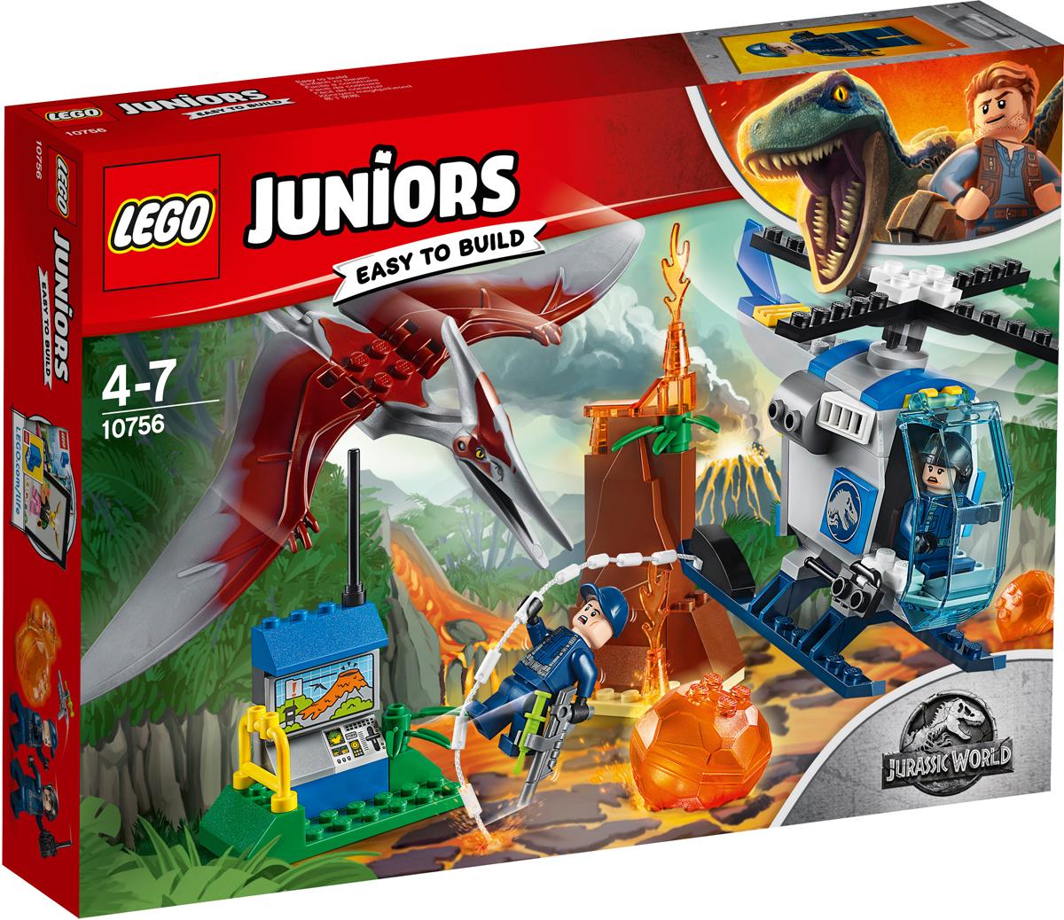 LEGO Juniors 10756 Побег птеранодона Конструктор lego juniors конструктор побег птеранодона