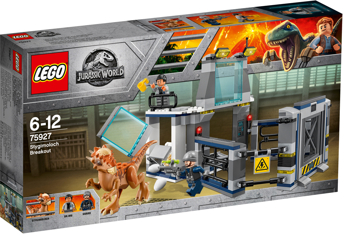 LEGO Jurassic World 75927 Побег стигимолоха из лаборатории Конструктор