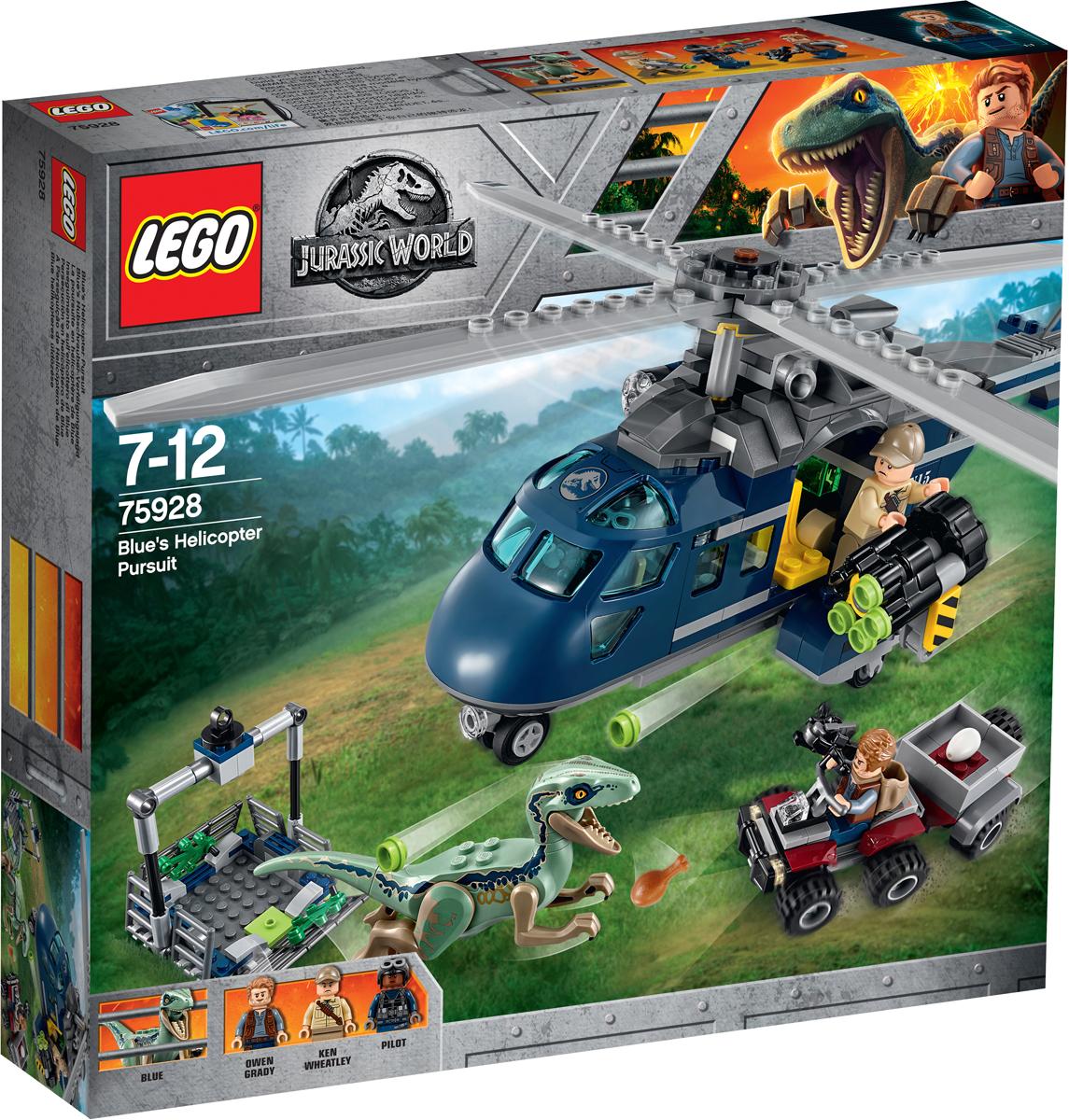LEGO Jurassic World 75928 Погоня за Блю на вертолете Конструктор