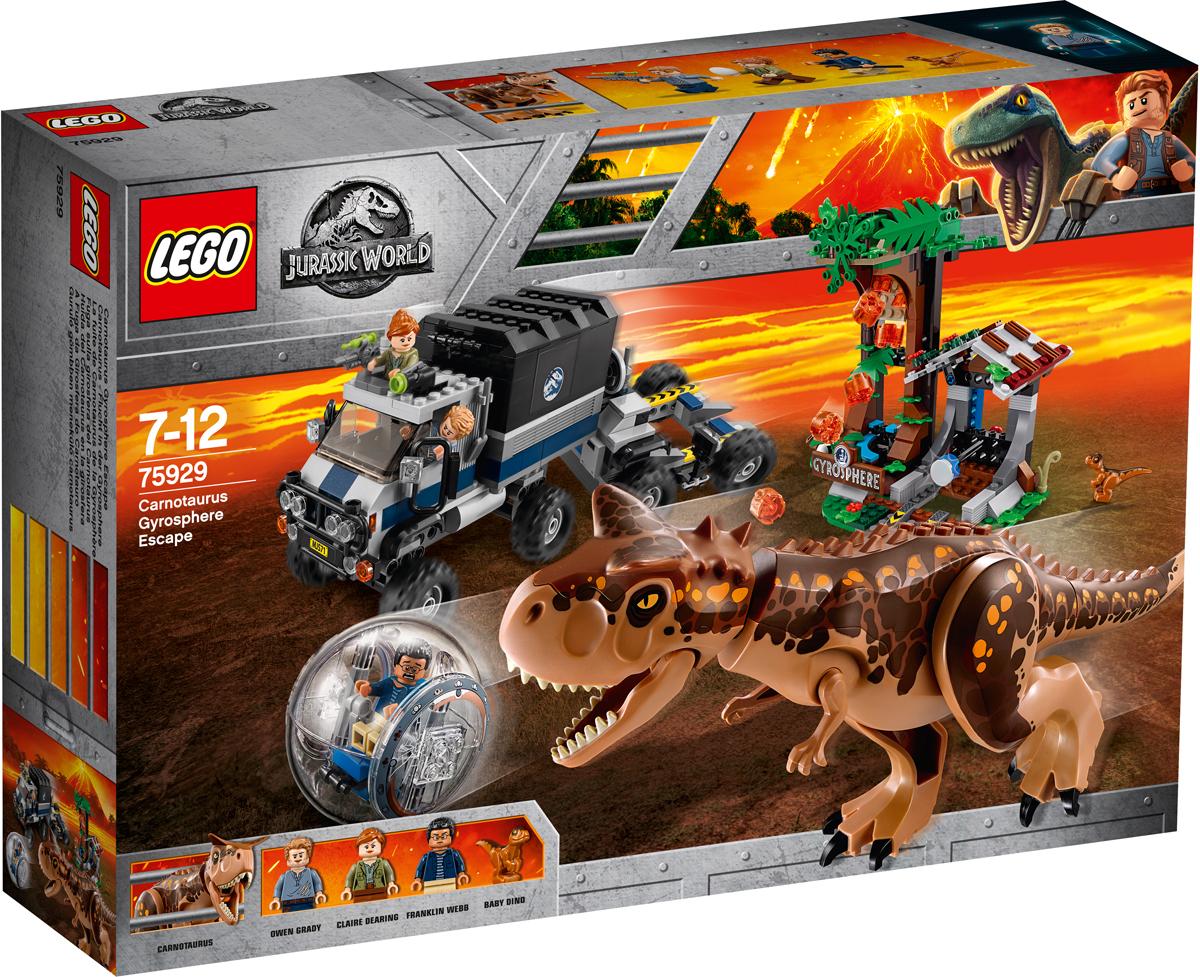 LEGO Jurassic World 75929 Побег в гиросфере от карнотавра Конструктор