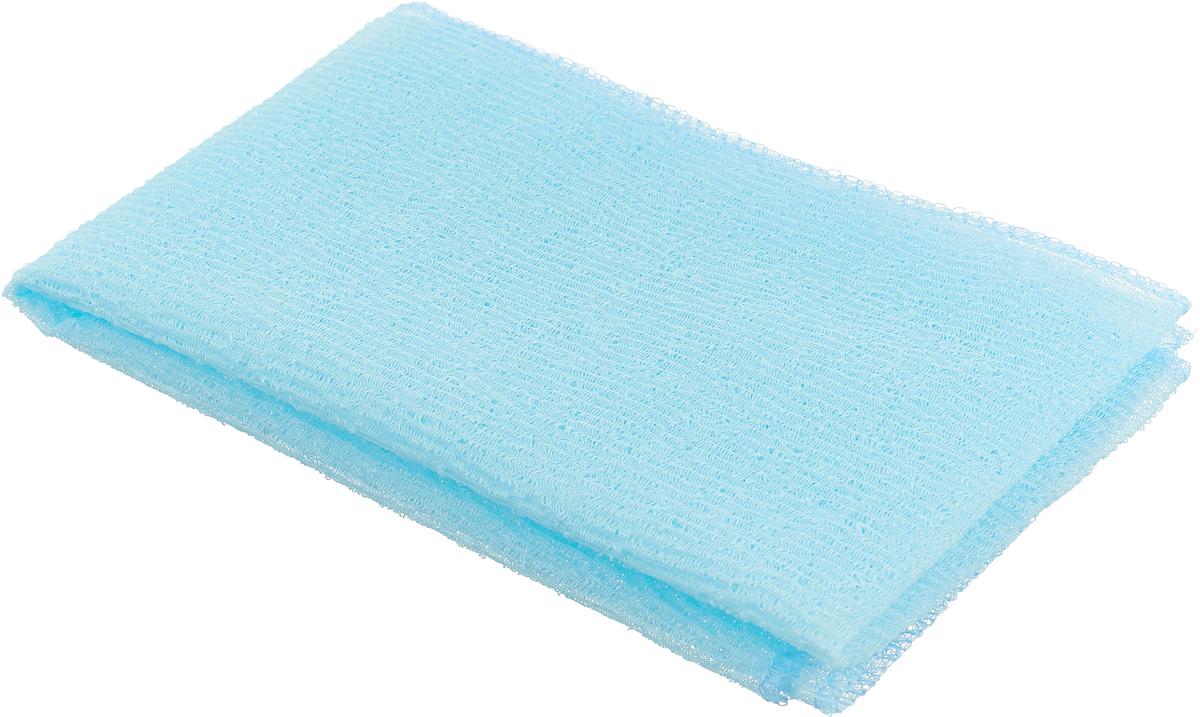 Мочалка-полотенце массажная Eva, цвет: голубой, 90 см х 30 см цена
